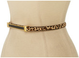 """Vince Camuto 1/2"""" Haircalf Panel Belt With Inlay Buckle"""