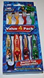 Dr Fresh Marvel Heroes Value 4 Pack Suction Cup Toothbrushes by