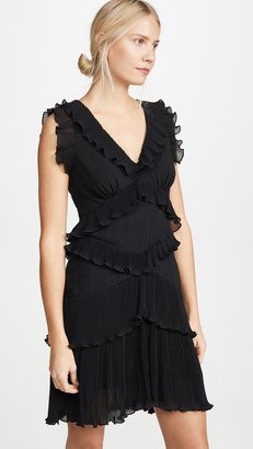Zimmermann Super Eight Pleated Frill Mini Dress