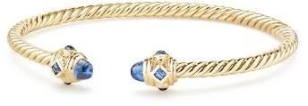 David Yurman Renaissance Bracelet with Light Blue Sapphire in 18K Gold