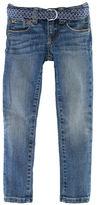 Ralph Lauren Girls 7-16 Bowery Denim Skinny Jeans