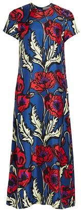 La DoubleJ Edition 20 Big Floral Silk Swing Dress