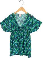 Milly Minis Girls' Short Sleeve Printed Top