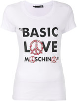 Love Moschino printed slogan T-shirt - women - Cotton/Spandex/Elastane - 42