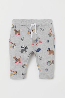 H&M Cotton Jersey Pants - Gray