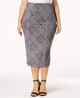 Melissa McCarthy Trendy Plus Size Plaid Pencil Skirt
