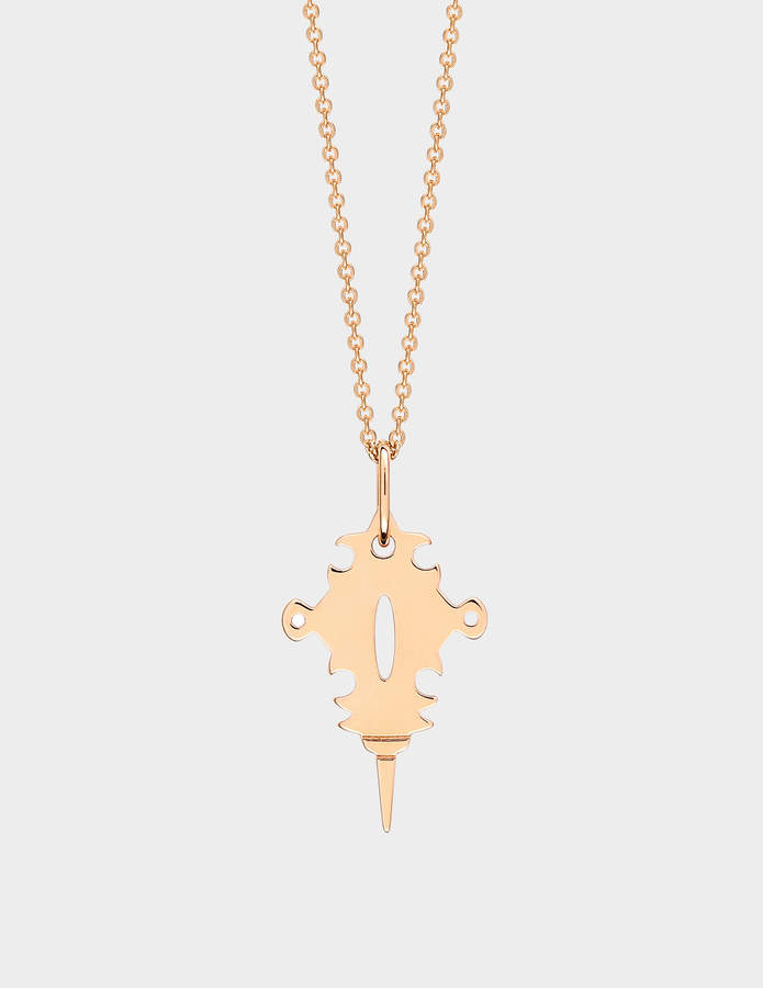 ginette_ny Mini Tanger 18-karat rose gold necklace