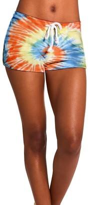 Steve Madden Tie-Dye Shorts Orange Multi