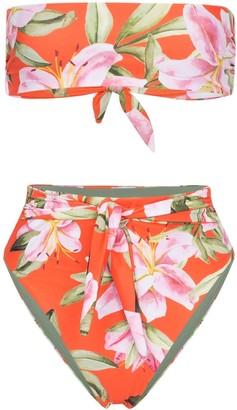 Mara Hoffman Abigail tropical-print bikini