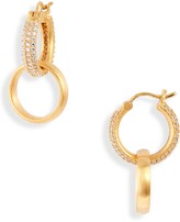 Dean Davidson Signature Pave Huggie Hoop Earrings