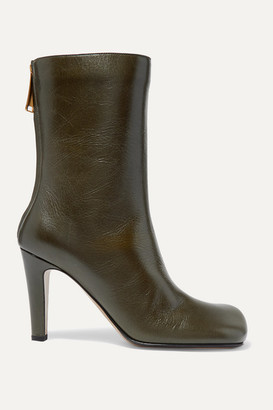 Bottega Veneta Leather Ankle Boots - Army green
