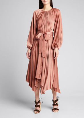 Ulla Johnson Yalena Belted Asymmetric Dress