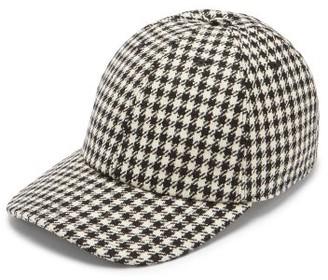 Thom Browne Houndstooth-check Cotton Baseball Cap - Black White