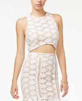 Endless Rose Crochet-Lace Crop Top