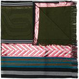 Odeeh zigzag striped scarf