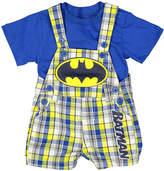Children's Apparel Network Batman Blue Tee & Shortalls - Infant