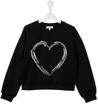 Twin-Set TEEN heart print sweatshirt