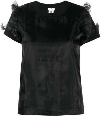 Comme des Garcons ruffled shoulder top
