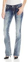 Miss Me Junior's Multi-Color Embellished Flap Pocket Bootcut Jean