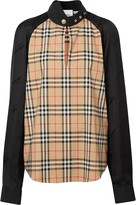 Burberry Vintage Check panelled blouse