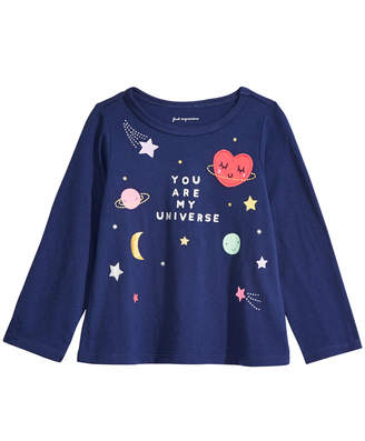 First Impressions First Impression Baby Girls Cotton Long-Sleeve Universe T-Shirt