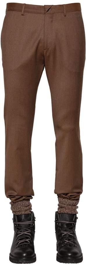 Etro Stretch Wool Pants W/ Elastic Cuffs