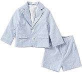 Mud Pie Baby Boys 6-18 Months Seersucker Jacket & Shorts Set