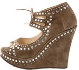 Jimmy Choo Studded Platform Wedges