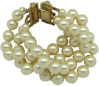 One Kings Lane Vintage Carolee Faux-Pearl Multi-Strand Bracelet - Thanks for the Memories
