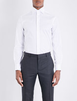 Eton Slim-fit French-cuff cotton-twill shirt