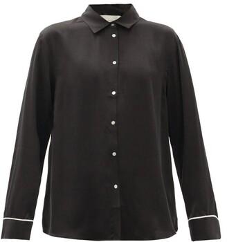 ASCENO London Silk Pyjama Top - Black