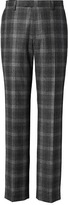 Banana Republic Slim Gray Plaid Italian Wool Flannel Suit Trouser
