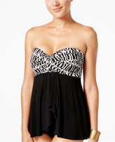 Miraclesuit Between The Pleats Printed Tankini Top