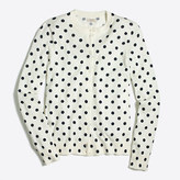 J.Crew Factory Polka-dot Caryn cardigan sweater