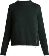 Proenza Schouler Asymmetric-zip wool and silk-blend sweater