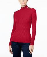 INC International Concepts Petite Mock-Neck Sweater, Only at Macy's