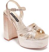 Alice + Olivia Veren Platform Metallic Sandals