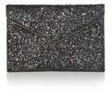 Rebecca Minkoff Glitter Coated Leather Leo Clutch