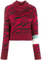 Brognano roll-neck zebra print sweater