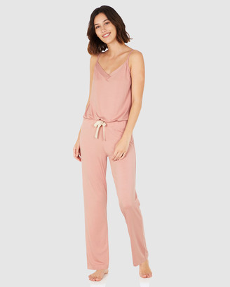 Boody Organic Bamboo Eco Wear - Women's Pink Two-piece sets - Goodnight Sleep Set - Cami and Pants - Dusty Pink - Size One Size, XS at The Iconic