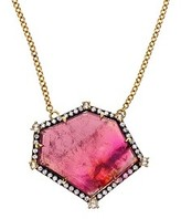 Jemma Wynne Geometric Tourmaline Pendant with Diamonds