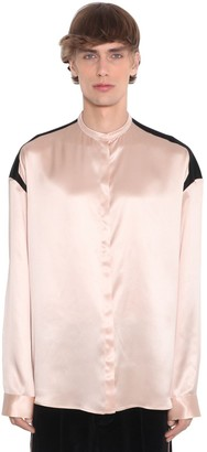Haider Ackermann Two Tone Viscose Satin Shirt