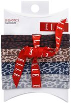 Elle 8-Pack Leopard Elastic Hair Ties