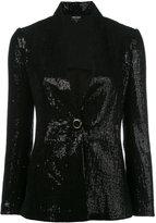 Giorgio Armani Sequin blazer - women - Polyamide/Polyester/Spandex/Elastane/Silk - 44