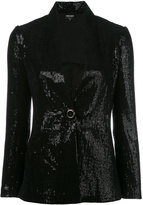 Giorgio Armani Sequin blazer - women - Silk/Polyamide/Polyester/Viscose - 42