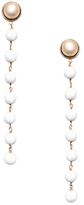 Rachel Zoe Sterling Station Pearl Drop Earrings