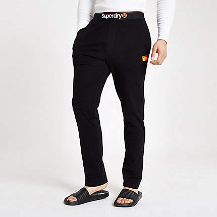 enjoy complimentary shipping great deals on fashion latest releases Superdry black loungewear trousers