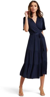 Forever New Anna Flutter Sleeve Midi Dress