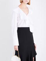 Prabal Gurung Ruffled cotton blouse