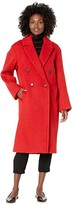 Vince Double Breasted Long Coat (Cherry Rust) Women's Coat